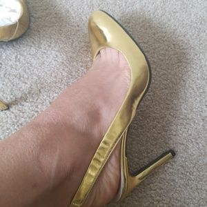 Shoes - Bruno Frisoni Paris New Gold Slingback size 39